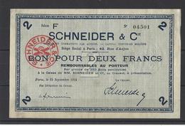 Bon Nécessité  SCHNEIDER  Bon De 2.00F - Bons & Nécessité