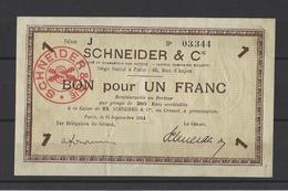 Bon Nécessité  SCHNEIDER  Bon De 1.00F - Bonds & Basic Needs