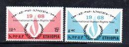 ETP134 - ETIOPIA 1968 ,  Yvert  N. 505/506    ***  DIRITTI UOMO - Ethiopia