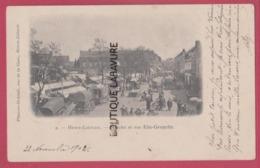 62 - HENIN-LIETARD---Marché Et Rue Elie-Gruyelle----animé----précurseur - Henin-Beaumont