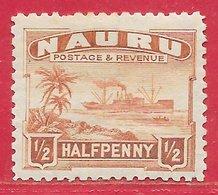 Nauru N°15 0,5p Brun-jaune 1924-48 * - Nauru