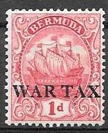1920 1p War Tax, Overprint, Mint Hinged - Bermuda