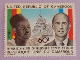 """CAMEROUN YT 632 NEUF(**) """"VISITE DU PRÉSIDENT GISCARD D ESTAING """"ANNÉE 1979 - Cameroon (1960-...)"""