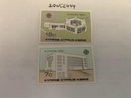 Cyprus Europa 1987 Mnh  #ab - Unused Stamps