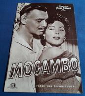 """Clark Gable, Ava Gardner, Grace Kelly > John-Ford-Film """"MOGAMBO"""" > Altes IFB-Filmprogramm (fp140) - Zeitschriften"""
