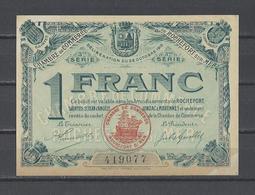 Chambre De Commerce De ROCHEFORT  Billet De 1.00F - Chambre De Commerce