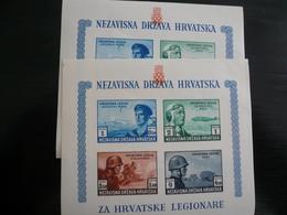 Foglietto Legione Croazia N.2 Pcs Mnh - Croazia