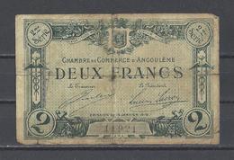 Chambre De Commerce D'ANGOULEME  Billet De 2.00F - Chamber Of Commerce