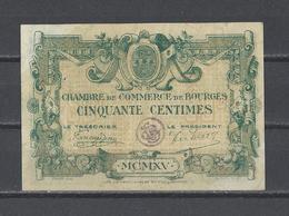 Chambre De Commerce De BOURGES  Billet De 50c - Chamber Of Commerce