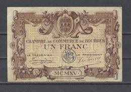 Chambre De Commerce De BOURGES  Billet De 1.00F - Chambre De Commerce