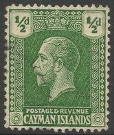 Cayman Islands. 1921-26 KGV. ½d Used. Mult Script CA W/M SG 70 - Cayman Islands