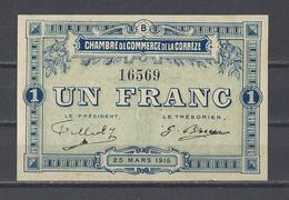 Chambre De Commerce De La CORREZE  Billet De 1.00F - Chambre De Commerce