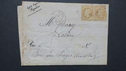 Lettre Bulletin Scolaire Lycée Imperial Napoleon 1870 (Henri IV) Paris Affr. Paire Napoleon  Obl Etoile De Paris N° 28 - Marcofilia (sobres)