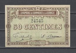 Chambre De Commerce De La CORREZE  Billet De 50c - Chambre De Commerce