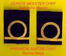 PASSANTEN EERSTE MEESTER CHEF MARINE GRADEN GRADE PREMIER MAITRE CHEF ZEEMACHT FORCE NAVALE BELGE MILITAIRE ZMFN 3425 - Guerre