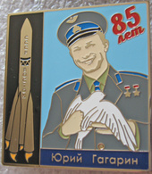 362-1 Space Russian Pin. GAGARIN 85th Birthday. Booster Vostok - Space