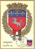CP Maximaphilie 1er Jour Blason De La Ville De Saint-Lô - Cartes-Maximum