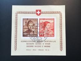 Schweiz 1941 Pro Juventute Block Nur Der STPL Ist FALSCH  Mi 6(Suisse Bloc Switzerland Miniature Sheet - Blocks & Sheetlets & Panes