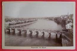 1880-1890 Photo Format Cabinet Panorama Von Basel Bale CH Suisse Dos Scanné éditeur Photographen Varady & Cie - Photographs
