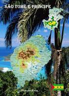 Sao Tome And Principe Country Map New Postcard Landkarte AK - São Tomé Und Príncipe