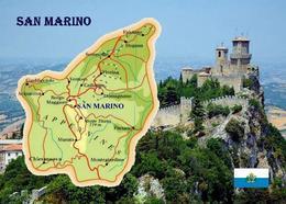 San Marino Country Map New Postcard Landkarte AK - San Marino