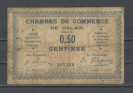 Chambre De Commerce De CALAIS  Billet De 50c - Chamber Of Commerce