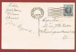 Antwerpen 1924 Zonder Datum Alleen Jaartal Op Fantasiekaart - Postmark Collection