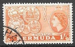 1953 1sh Queen Elizabeth, Used - Bermuda