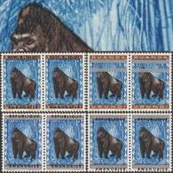 Rwanda 1964 COB 57. 8 Timbres En 4 Paires. Essais De Surcharges. Singe, Gorille - Gorilles