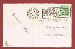 Sloganstempel Juwelenstoet Cortège Des Bijoux Antwerpen 1923 - Stamps