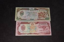 Lot 2 Billets 100 Afghanis 500 Afghanis - Afghanistan