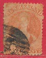 Nouvelle-Zélande N°30 1p Vermillon (filigrane Grande étoile) 1864-66 O - 1855-1907 Crown Colony