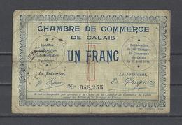 Chambre De Commerce De CALAIS  Billet De 1.00F - Chambre De Commerce