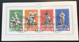Schweiz 1940 Pro Patria Block Nur Der STPL Ist FALSCH  Mi 5(Suisse Bloc Switzerland Miniature Sheet - Blocks & Sheetlets & Panes