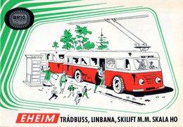 Catalogue EHEIM 1958 Tradbuss Trolley-Bus HO Linbana Seilschwebenbahn - En Suédois - Other