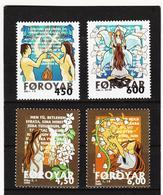 TNT165 DÄNEMARK - FÄRÖER 1999  Michl 366/67 + 385/86 ** Postfrisch SIEHE ABBILDUNG - Färöer Inseln