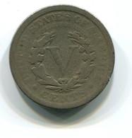 1911 USA Liberty Nickel 5 Cent Coin - Émissions Fédérales