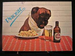 AN -211- Publicité - Bière Stella Artois Avec Un Gros Chien - Prosit - Légèrement Pliée En Diagonale - Circulé 1978 - Publicité