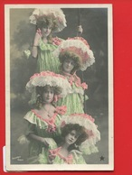 TRES JOLIE CPA Edwardian Victorian Dress Femme Multiples Coiffure Dentelle ETOILE Balançoire Sazerac - Femmes