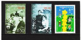 TNT166 DÄNEMARK - FÄRÖER 2000  Michl 372/74 ** Postfrisch SIEHE ABBILDUNG - Färöer Inseln