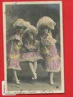 TRES JOLIE CPA Femme Multiples Coiffure Dentelle ETOILE Balançoire Sazerac Edwardian Victorian Dress - Femmes