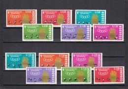 Ecuador Nº 738 Al 743 Y A436 Al A411 - Ecuador