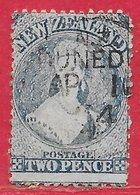 Nouvelle-Zélande N°31 2p Bleu (filigrane Grande étoile) 1864-66 (DUNEDIN) O - 1855-1907 Colonie Britannique