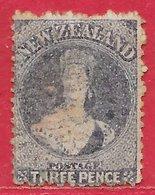 Nouvelle-Zélande N°32 3p Lilas (filigrane Grande étoile) 1864-66 O - 1855-1907 Colonie Britannique