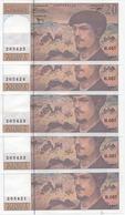 20 FRANCS DEBUSSY  SUITE DE 10 BILLETS  SERIE H.057  1997 - 1962-1997 ''Francs''
