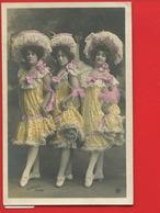 TRES JOLIE CPA Femme Multiples Coiffure Dentelle ETOILE Femmes Pas Danse Sazerac Edwardian Victorian Dress - Femmes