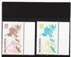 TNT170 DÄNEMARK - FÄRÖER 2000  Michl 379/80 ** Postfrisch SIEHE ABBILDUNG - Färöer Inseln