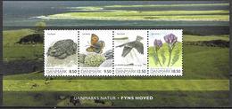 Denmark Danmark Dänemark 2010 Nature Natur Fyns Hoved Michel No. Bl. 38 (1552-55) Mint MNH Neuf Postfrisch ** - Unused Stamps