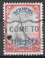 1936 2 Pence, Yacht Used - Bermuda