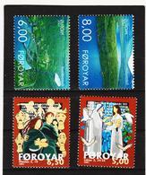 TNT171 DÄNEMARK - FÄRÖER 2001  Michl 402/03 + 412/13 ** Postfrisch SIEHE ABBILDUNG - Färöer Inseln
